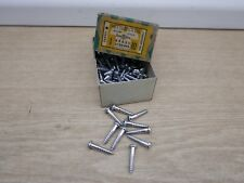 "10 X NETTLEFOLDS 1"" X 10 CHROME ON BRASS SLOTTED ROUND HEAD WOOD SCREWS"
