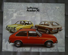 PONTIAC ACADIAN 1976 Dealer Brochure - French - Canadian Market