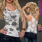 New Sexy Womens Crochet Tops Size 6 8 10 Hot Party Evening Casual Shirts XS S M