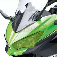 Motorcycle Headlight Screen Lens Plastic Protection Cover for Kawasaki Ninja400