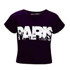 T-shirts, hauts et chemises violets col rond pour fille de 2 à 16 ans