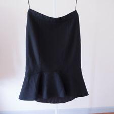 DEREK LAM - NWT Black Wool & Silk Skirt - Koh Samui - Sz 42