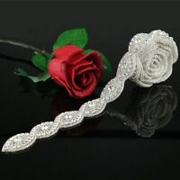 1Yard Rhinestone Crystal Applique Bridal Accessories For Wedding Dress Sash Belt