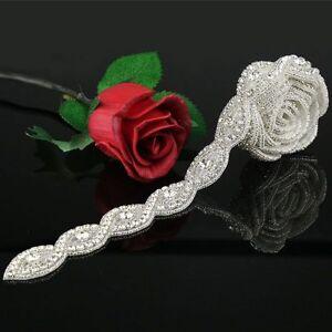 1Yard Rhinestone Crystal Applique Bridal Accessories For Wedding Dress Sash Belt