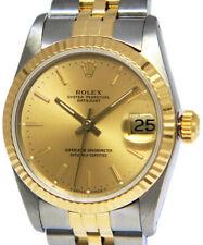Rolex Datejust 18k Yellow Gold/Steel Champagne Dial Ladies 31mm Watch R 68273