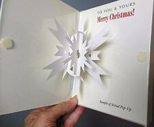 Jesalie Pop Up Card Set of 6 + Envelopes New Snowflake