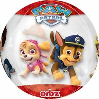 Paw Patrol Chase & Marshall Clear Orbz Foil Balloons