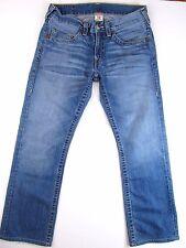Men's True Religion BOBBY Straight Leg Jeans Light Wash size 33 x 31 HEMMED