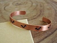 Pure Copper Arthritis Bracelet Solid Copper Adjustable Cuff Bracelet  KOKOPELLI