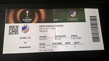 TICKET : APOEL NICOSIE - RSC ANDERLECHT 09-03-2017 EUROPA LEAGUE