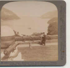 Well Dressed Couple at West Point Military Academy NY Underwood Stereoview 1901