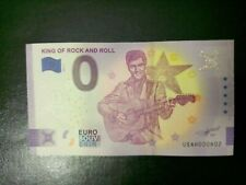 Billet zero euro souvenir USA 2021, king of Rock'n Roll , Elvis Presley, 3000ex