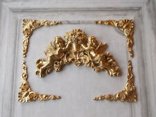 FURNITURE MOULDINGS ORNATE CORNERS WITH ORNATE CHERUB MOULDING ANTIQUE GOLD