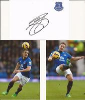 EVERTON * PHIL JAGIELKA SIGNED 6X4 CRESTED WHTE CARD+2 FREE UNSIGNED PHOTOS+COA