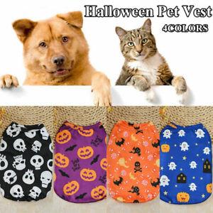 Pet Clothes Puppy Dog Cat Cute Tshirt Coat Vest Fleece Costume Halloween Apparel