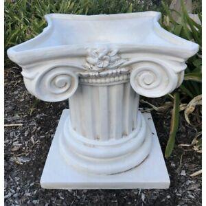 Outdoor Garden Patio Roman Pillar Planter Pot Urn Pedestal Holding Planter 48cm