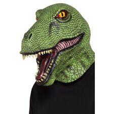 Verde Dinosauro Maschera Adulti Latex Preistorico T- Rex Accessorio Vestito