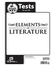 BJU Press - Elements of Literature Tests Answer Key (2nd Ed ) 277632