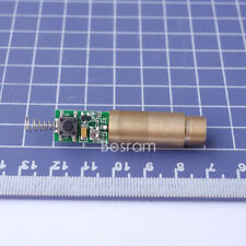 1pc Industrial D=12mm 532nm Green Laser Module Diode 5mw-10mw 3VDC Brass Body