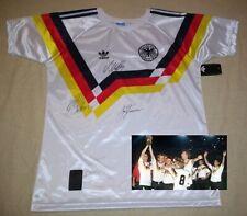 KLINSMANN MATTHAUS & BREHME hand signed autographed 1990 WC Germany Jersey PROOF