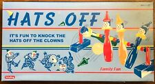 Vintage Schylling Hats Off Knock Clowns Bowling Game Retro All Wood