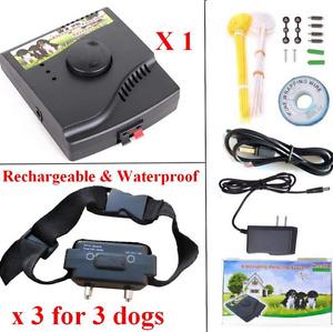 Dog Pet Fence System Underground Pet Training Collar Electric W227B 1/2/3