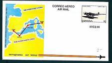 SPAIN - SPAGNA - 1989 - AEROGRAMMA - 50 pt - Idroplano CANT Z - 506. Line aerea