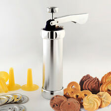 Stainless Steel Cookie Press Kit With 20 Discs & 4 Icing Tips