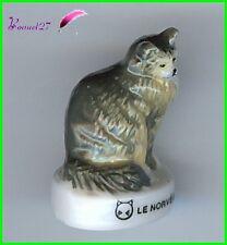 """Feve Les Races de Chat Cat Edition Atlas """" Le Norvégien """"  #A23"""