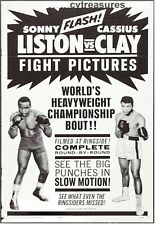 Cassius Clay (Muhammad Ali) Sonny Liston Vintage Boxing Poster w/RARE Plate !