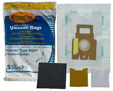 5 Hoover 322, 40101001 Type H30 Plus Envirocare Canister Vacuum Paper Bags