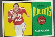 1964 TOPPS CFL MECO POLIZIANI MONTREAL ALOUETTES #47 (WESTERN MUSTANGS) EXNRMT