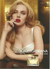 DOLCE & GABBANA The One Scarlet Johansson - 2011 Print Ad (not real product)
