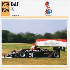 1979-1984 RALT RT3 Racing Classic Car Photo/Info Maxi Card