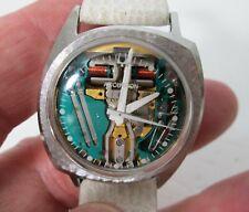 Vintage 1966 BULOVA Accutron 214 Spaceview Asymmetric Wrist Watch - AUCTION