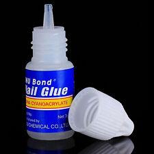 3 Bottles Acrylic Nail Art Glue French False Tips Manicure Tool Fake Nails MZZ