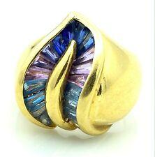 Magnificent Ring Gold 18 Carat - Sapphires Colour - 10,28 G