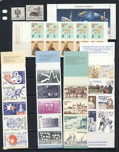 Sweden mnh vf topical stamp collection with booklets and a few singles, 2 pages