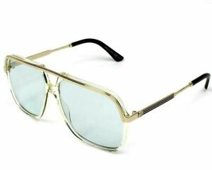 GUCCI GG0200S 005 Yellow Blue Unisex Authentic Sunglasses 57 mm