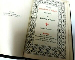 Of The Imitation of Christ Four Books by  Thomas Kempis  1909