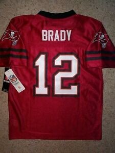 (2020-2021) Tampa Bay Buccaneers TOM BRADY nfl Jersey YOUTH KIDS BOYS (L-LARGE)