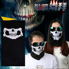 2PCS Motorcycle Face Masks Skull Mask Half Face for Out Riding Motorcycle