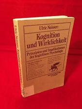 Ulric Neisser - Kognition und Wirklichkeit Paperback 1979