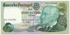 PORTUGAL - 20 Escudos 13. 9. 1978. P176a, UNC. (P005)