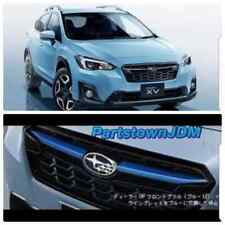 2018 19 XV Crosstrek JDM Subaru genuine  OEM grille winglets trim : Satin Blue