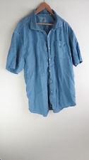 Tommy Bahama Jeans chambray blue tencel lyocell cotton shirt 3XL