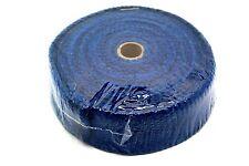"""Fibra cerámica cinta de envoltura de calor colector de escape, 2"""" de ancho, 2MM longitud 10M Azul"""