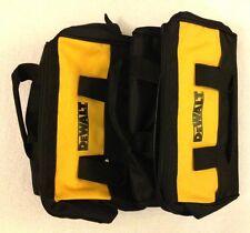 "2 New Dewalt N037466 Heavy Duty Ballistic Nylon Tool Bags 13"" w/ Solid Runners"