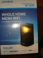 Linksys Velop Dual Band AC1200 Mesh WiFi System- Black-  Brand New & Sealed!