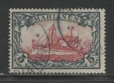 1901 German colonies MARIANA ISLANDS  5 Mark  Yacht used signed,  cat. $ 750.00
